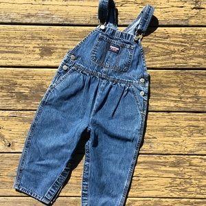 OshKosh B'gosh girls denim overalls jeans / 2 2T